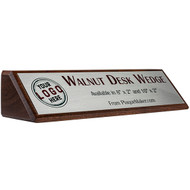 Walnut Desk Wedge Name Plates