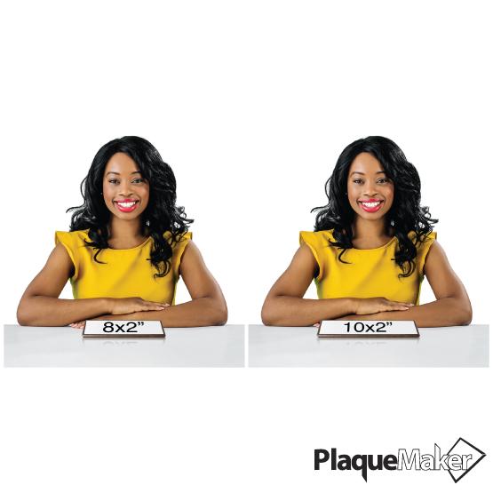 Walnut Desk Wedge Name Plates Sizes