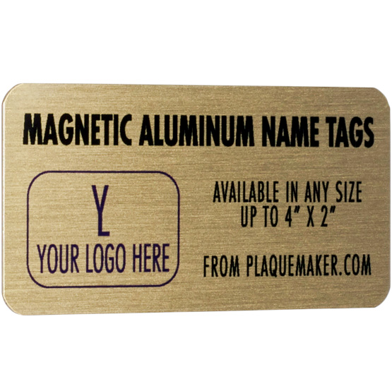 Personalized Full Color Magnetic Name Badge