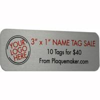 "Name Tag Sale - 3""x1"""