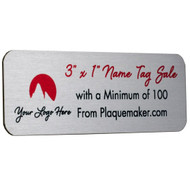 "Name Tag Sale - 3""x1"""