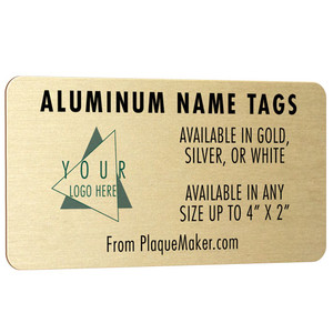 Aluminum Name Tags