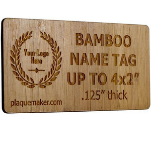 Laser Engraved Bamboo Name Tag