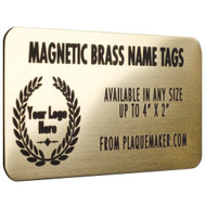 brass magnetic name badge