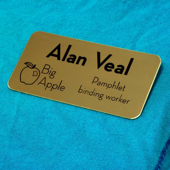 Custom Cut Brass Name Tag