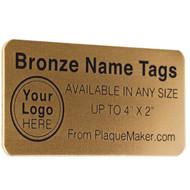 Bronze Metal Custom Name Tag