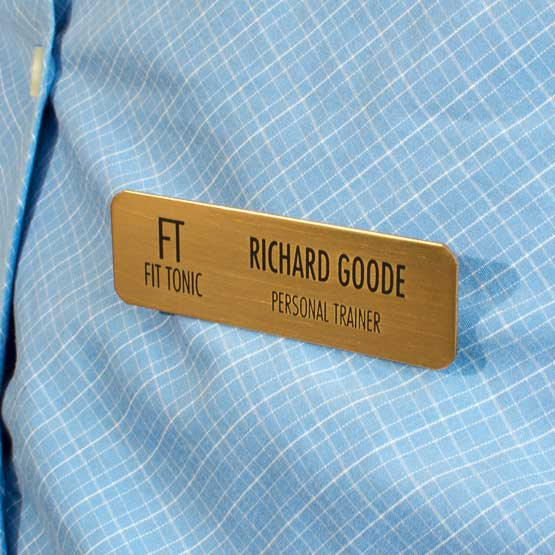 Bronze Metal Custom Name Tag