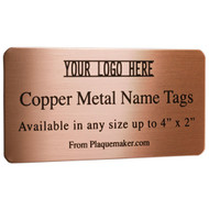 Copper Name Tags
