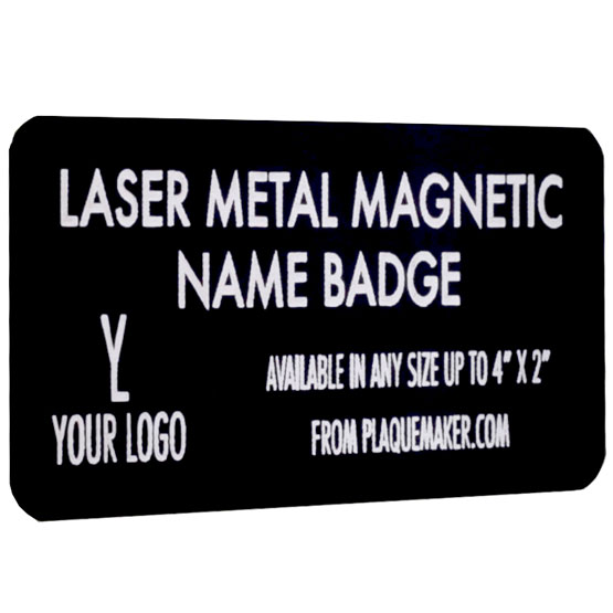 laser metal magnetic name badge
