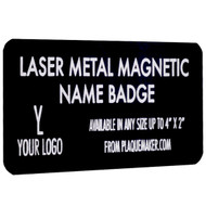 laser metal magnetic name badge