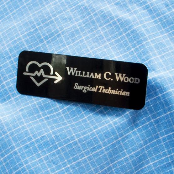 Medical Name Tags Laser Engraved Me
