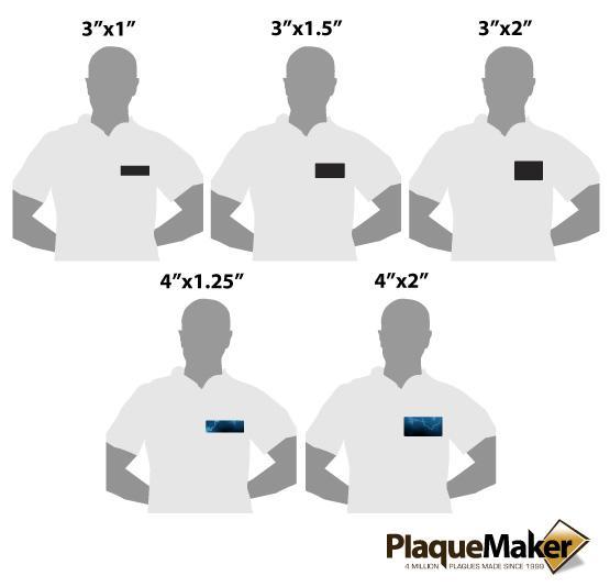 Custom Laser Metal Tag Size Guide