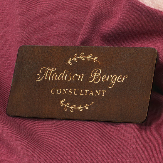 Rustic Name Tags Sizes