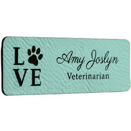 Teal Name Tags
