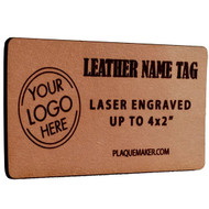 "Leather Name Tags - up to 4""x2"""