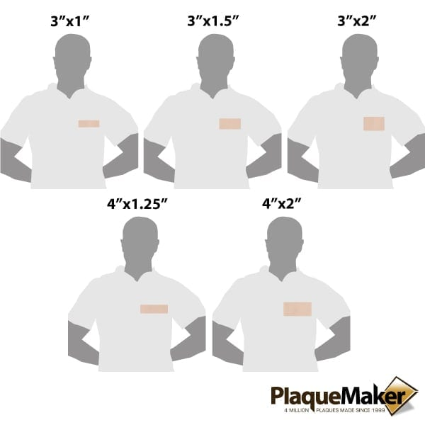 Leather Name Tags Size Guide