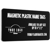 plastic magnetic name badge