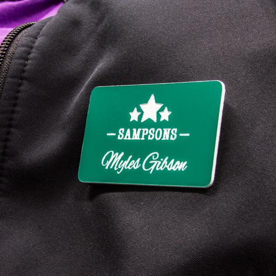 plastic magnetic name badge