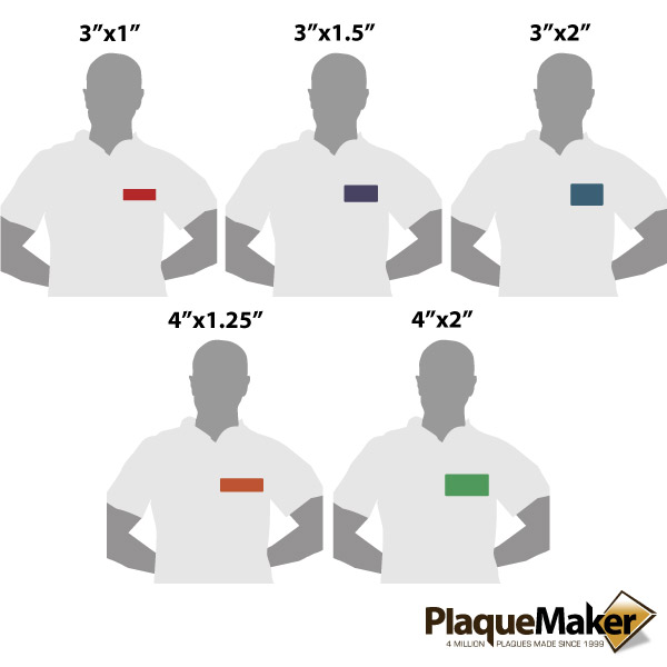 Plastic Magnetic Name Badge Size Gu