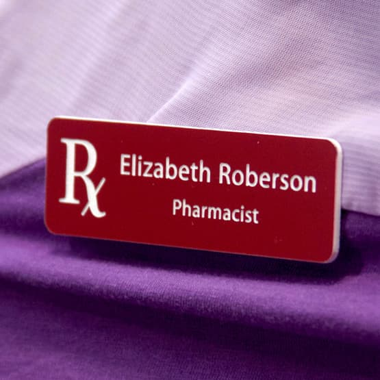 Plastic Medical Name Tags