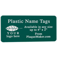Custom Cut Plastic Name Tag