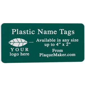 Custom Cut Plastic Name Tag