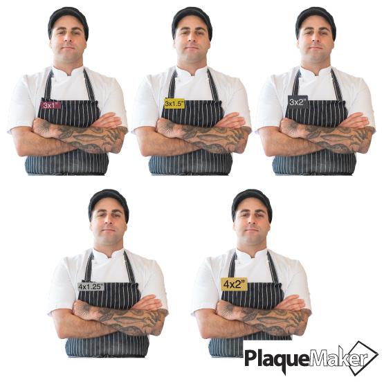 Custom Plastic Name Tag Size Guide