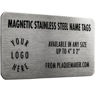 stainless steel magnetic name badge