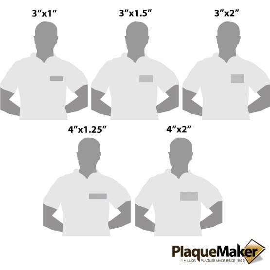Stainless Steel Badge Size Guide