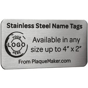 Custom Cut Stainless Steel Tag