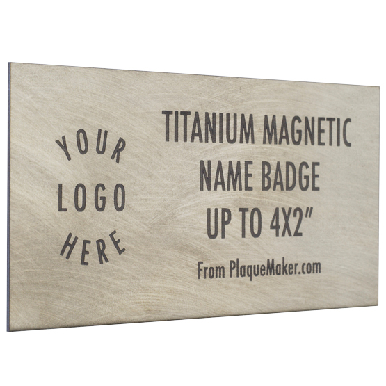 Titanium Name Badge
