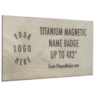 Titanium Name Badge