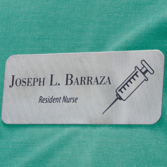 Titanium Medical Name Tag
