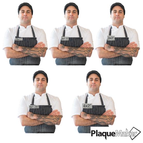 Custom Cut Titanium Tag Size Guide