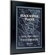 Black Acrylic Plaques