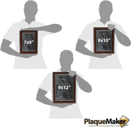 Black Acrylic Plaques Size Guide