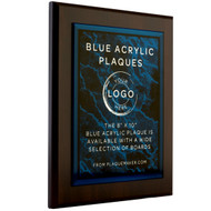 Blue Acrylic Plaque