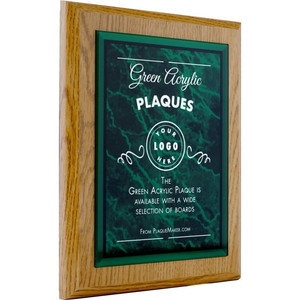 green acrylic plaque