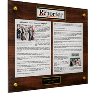 Acrylic Newspaper Plaques