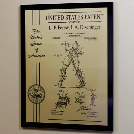 Acrylic Patent Plaque