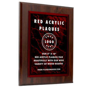 Red Acrylic Plaques