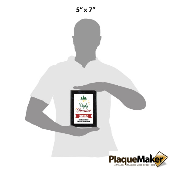 Ugly Sweater Plaque Sizes
