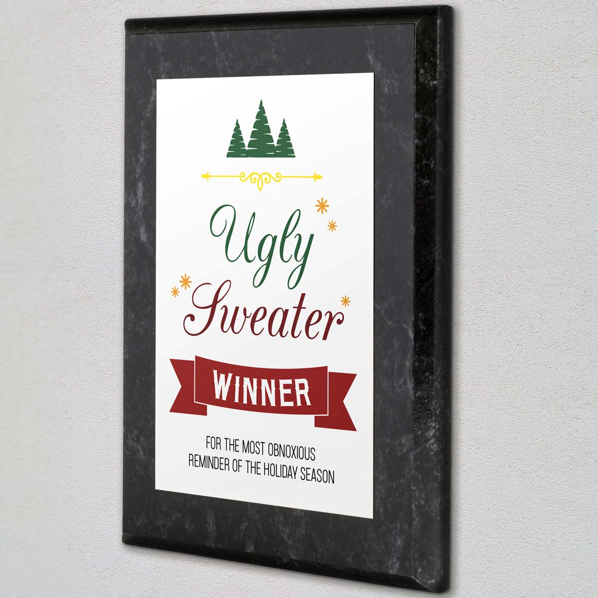 Ugly Sweater Plaque