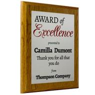 award of plaque