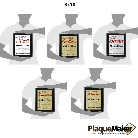 Award of Plaque Size Guide