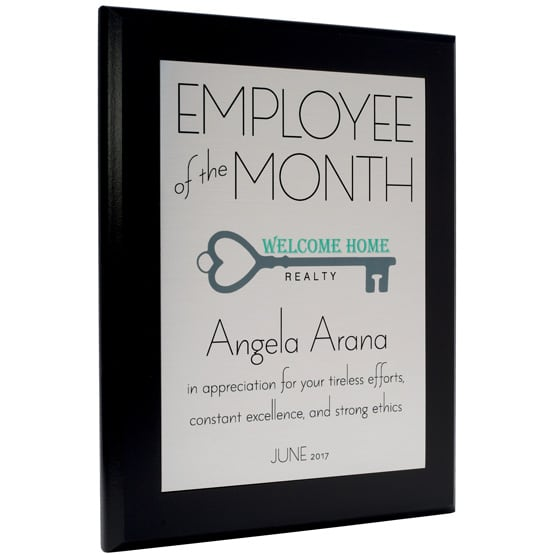 Employee of the Month Plaque - Style 3