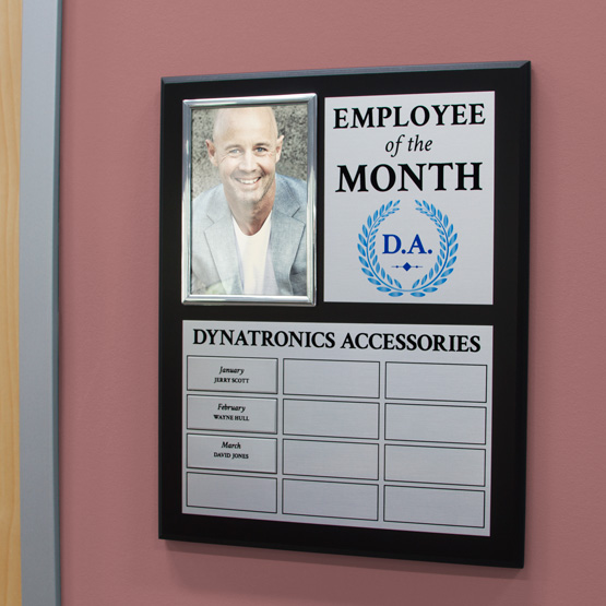 Employee of the Month Photo Perpetual Plaque
