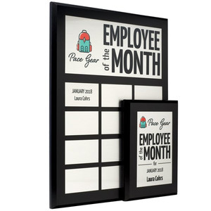 employee of the month plaque set
