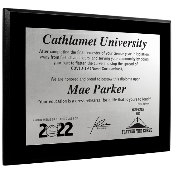 2020 Flatten the Curve Diploma