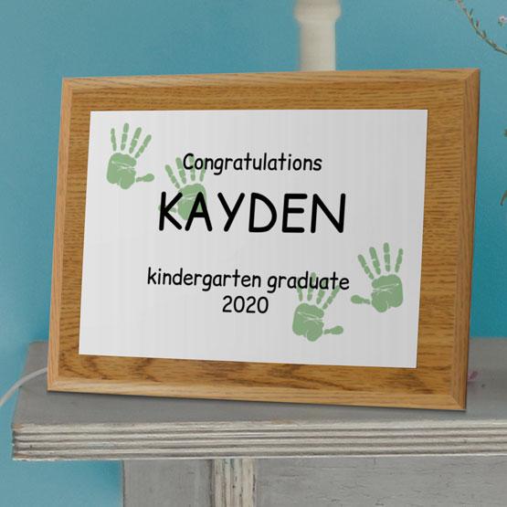 Kindergarten Graduation Plaque